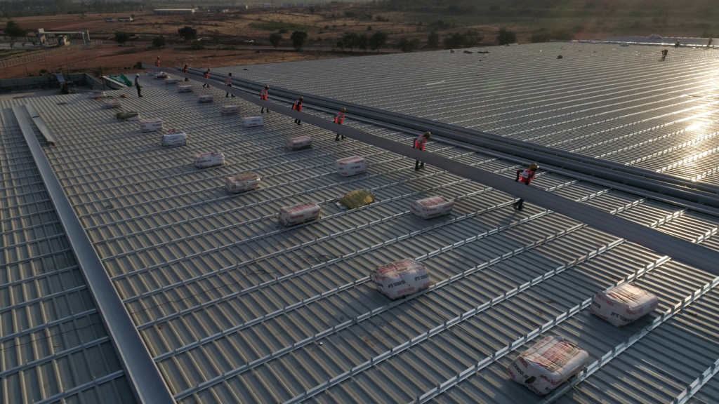Standing Seam Roof Project by Aditya Profiles